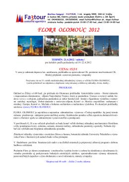 FLORA OLOMOUC FLORA OLOMOUC 2012