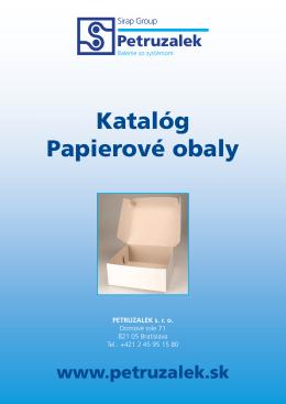 Katalóg Papierové obaly