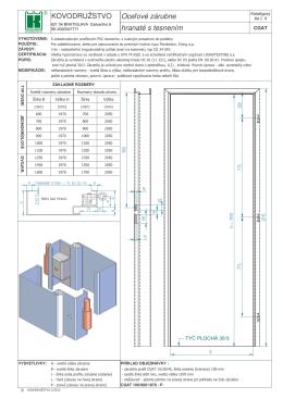 Katalogový list CGAT