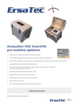 Analyzátor VOC SmartFID pre mobilné aplikácie - K