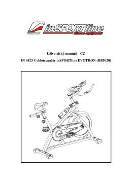 Uživatelský manuál – CZ IN 4423 Cyklotrenažér