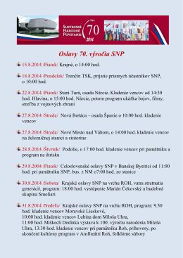 Oslavy 70. výročia SNP