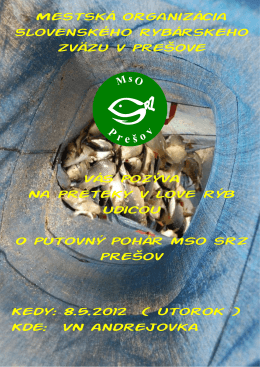 Mestská organizácia slovenského rybárskeho zväzu v
