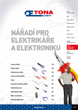 nářadí pro elektrikáře a elektroniku