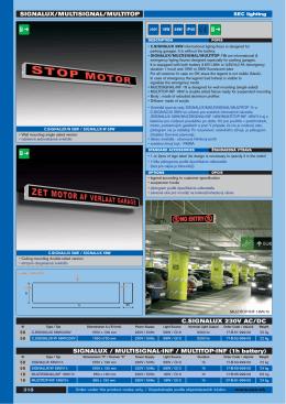 SIGNALUX/MULTISIGNAL/MULTITOP C.SIGNALUX 230V AC/DC