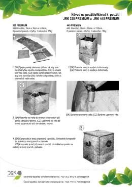 Návod na použitie/Návod k použití JRK 335 PREMIUM a JRK 445