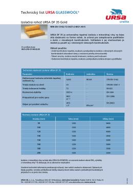 Technický list URSA DF 35