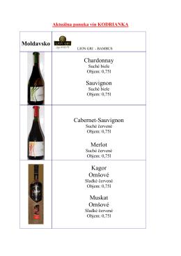 Aktuálnu ponuku vín KODRIANKA nájdete TU!