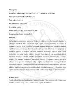 GABČÍKOVÁ DANA Číslo práce: 76/07/DP