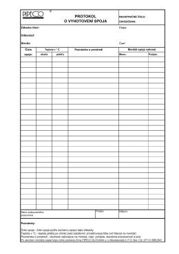 Protokol o vyhotovení spoja