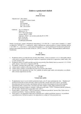 Zmluva audit