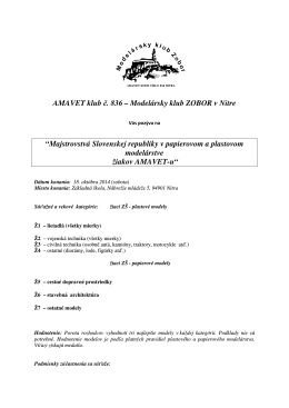 """AMAVET klub č """"Majstrovstvá Slovenskej repub VET klub č. 836"""