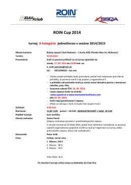 Pozvánka na turnaj [PDF]