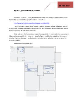 3-4 izb.byt B61 holopriestor