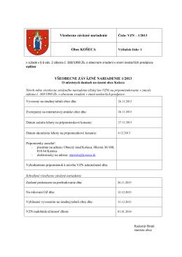 VZN 1-2013 o miestnych daniach