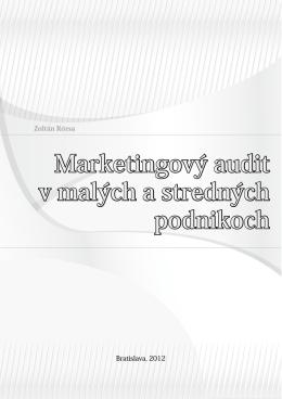Marketingový audit v malých a stredných podnikoch