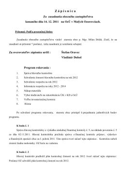 Uznesenie z 14.12.2011