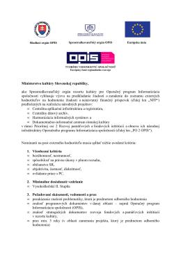 Výzva - OPIS