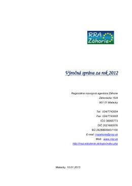 Správa RRAZ 2012