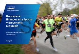 KPMG - Koncepcia financovania športu