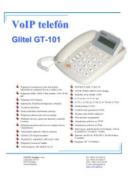 VoIP telefón - GLITEL Stropkov, sro
