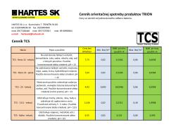 Cenník TCS - trion