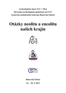 program archeologickej konferencie (PDF)