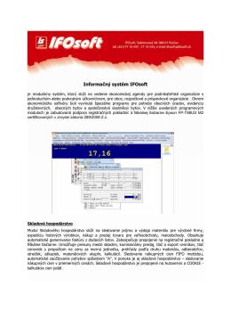Informačný systém IFOsoft