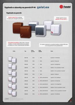 5. Vypínače a zásuvky na povrch IP 44