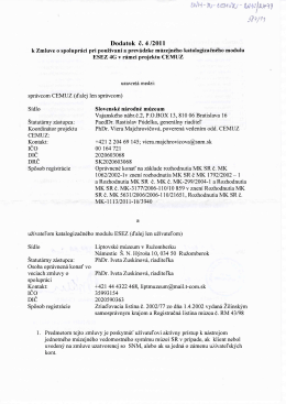 30.9. Z_SNM_BA_Dodc.4-2011_k_Zmluve_ESEZ4G_CEMUZ_584-11