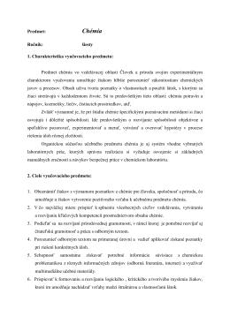 Chémia - ZŠ Hroncova 23