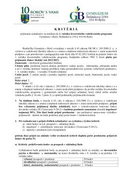 Obchodná akadémia, Veľká okružná 32, 011 57 Žilina