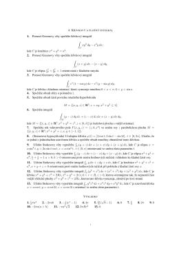 1. Pomocí Greenovy vety spoctete krivkový integrál ∫ xy2 dy