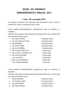 Voľby do VÚC 2013