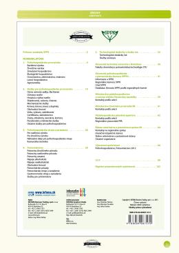 Poľnohospodárstvo - Potravinárstvo 2013