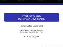 Testy řízený vývoj