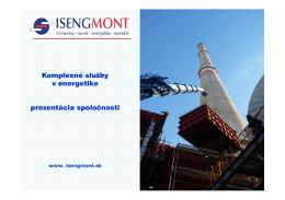 prezentácia spoločnosti isengmont - Iseng