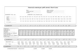 Stanovenie somatotypov podľa metody Heart-Carter - E