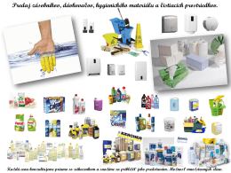 Predaj hygienického materiálu
