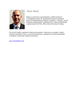 Peter Rolný - libellius.com