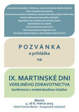 IX. MARtINSKé dNI