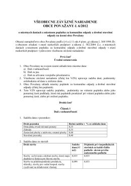 VZN č. 6/2012 o miestnych daniach a miestnom poplatku za