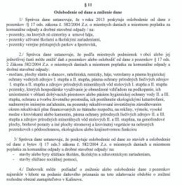 §11 Oslobodenie od dane a zníženie dane II Správca dane