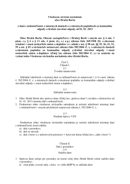 Všeobecne záväzné nariadenie obce Hrubá Borša o dani z