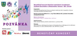 Benefičný koncert klientov zariadení sociálnych služieb