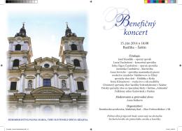 BBenefičný koncert - Bazilika Sedembolestnej Šaštín