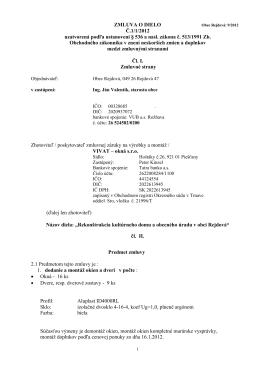 Zmluv o dielo 9/2012-rekonštrukcia OcU,KD