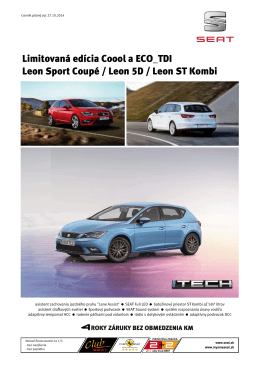 Limitovaná edícia Coool a ECO_TDI Leon Sport Coupé / Leon 5D