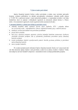 Vybavovanie potvrdení - Správa finančnej kontroly Košice