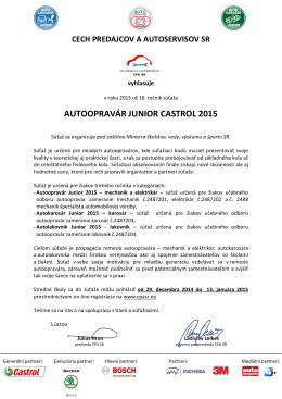 AUTOOPRAVÁR JUNIOR CASTROL 2015